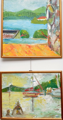 Paintings from the art show and sale