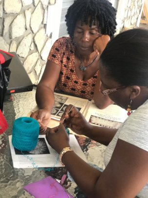 Learn to Crochet class in the new space