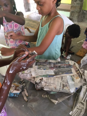 In the process of making Paper Mache sculptures