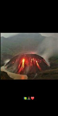 The volcano the night before the violent eruption