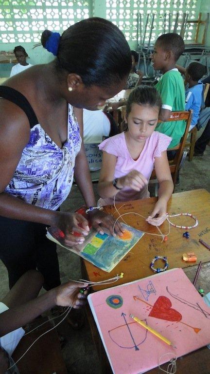 St. Vincent Teaching Art to Children