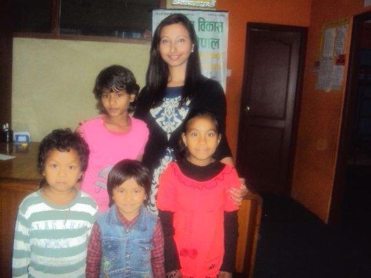 Children with Donor Samita Adhikari-Australia.