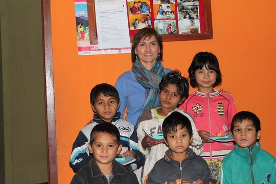 Our children happy with Donor Krystina Janus, USA
