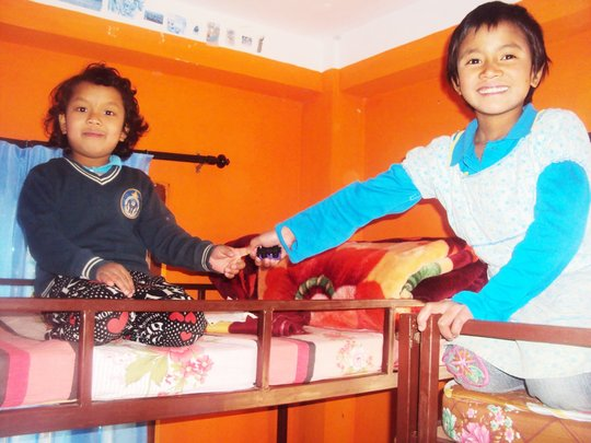 Children Happy with their Warm-Beds.