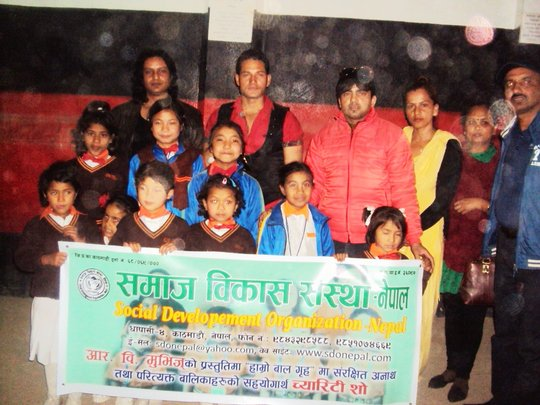 With R.B.Movies Team during CHARITY-SHOW
