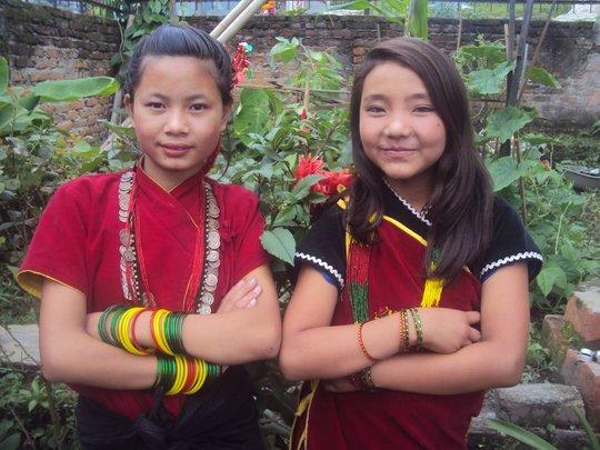 PRIYA and ANJU,Class-6 and 4 ready for fashionshow