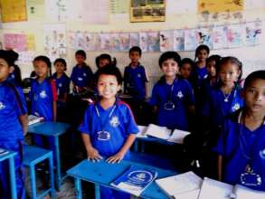 DOLMA happy with her classmates at class-2.