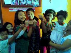 Celebrating RAKSHA-BANDHAN at child home.
