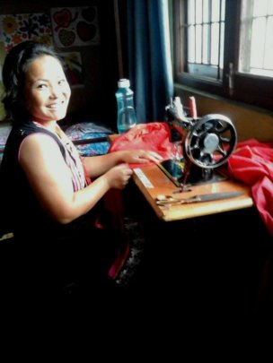 JAMUNA, care-giver is on tailoring at Child home.