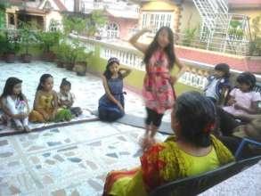 Singing dancing and celebrating TEEJ festival.