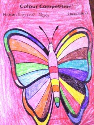 Art works of SRIJANA, Class-UKG.