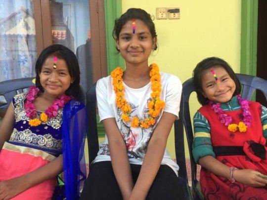 Colors and garland onTihar( bhaitika) festival.