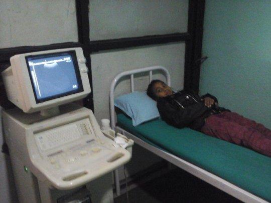 SARASWATI, Class-5 diagnosed  of kidney stone.