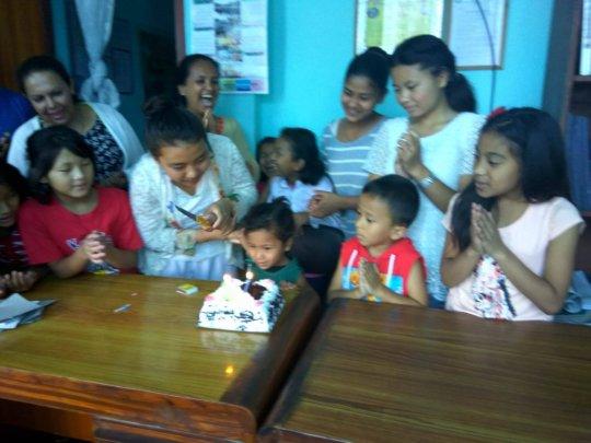 SABITA, Class-LKG celebrating her 5th Birthday.