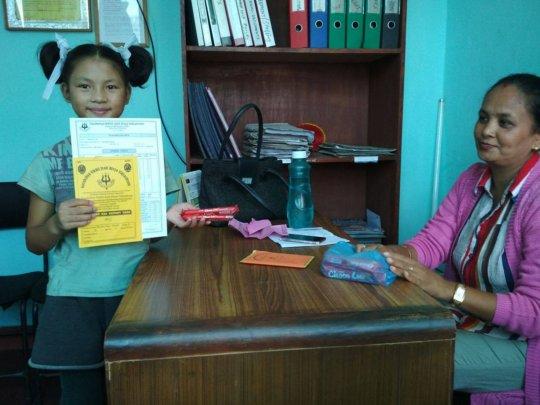 PEMBA,Class-2 rewarded as she achieved GPA-4.0 A+