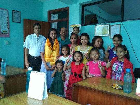 MIHIKA from GlobalGiving visiting SDO-Nepal