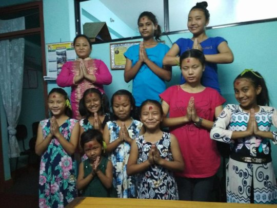 Children are happy with New-Dresses at Dashain.