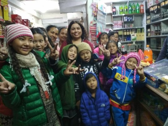 Children happy with AJITA and Family at Department