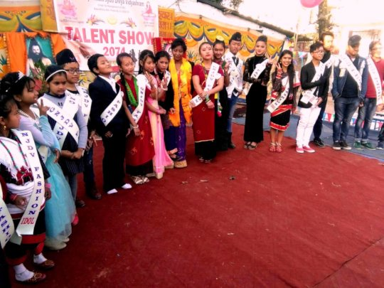 ANJU, class-7 won 1st-GNJDV-FASHION-IDOL at school