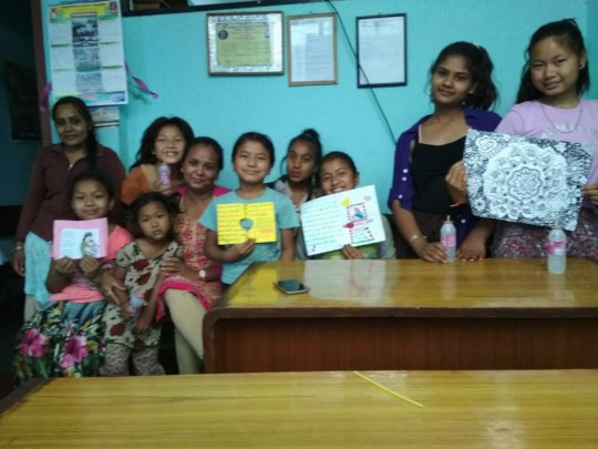Children wishing Happy-MOTHER's-DAY to all MOTHERs