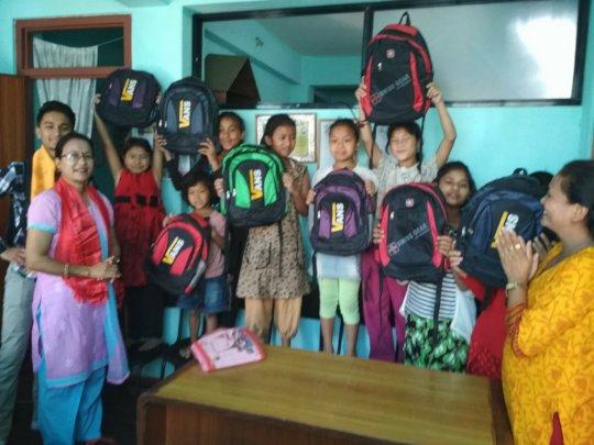 New school bags donation from Gokul& Yasoda.