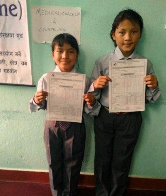 SRIJANA &PEMBA, class-3 received full marks A+ .