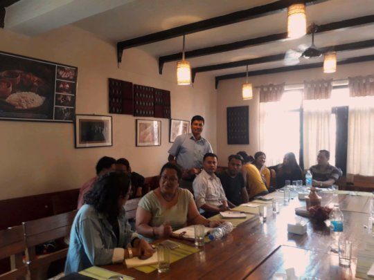 Vice chair THAKUR on GlobalGiving's workshop.