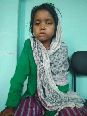 A new orphaned girl NIRA, 8 years protected at SDO