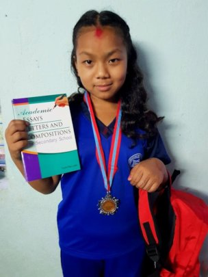 DOLMA, class-4 awarded MEDAL at school on GPA 3.26