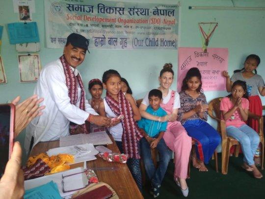 Srijana,class-4  received 1st- prize with GPA 3.89