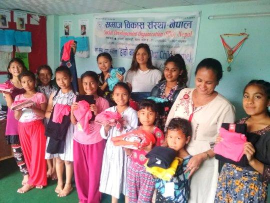 New clothes to children before Dashain festival