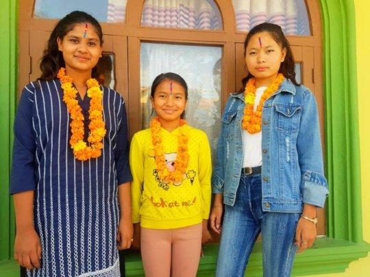Children celebrated DIPAWALI (bhai tika) festival.