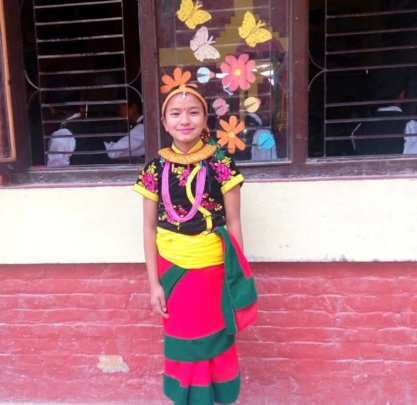 SRIJANA,class-4 ready for dance on Parent's-Day