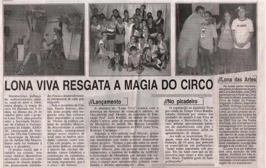 newspaper article with photos- portuguese