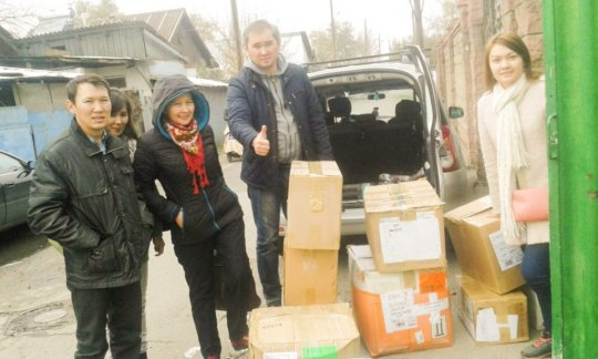 Love Kazakhstan volunteers doing what they do best