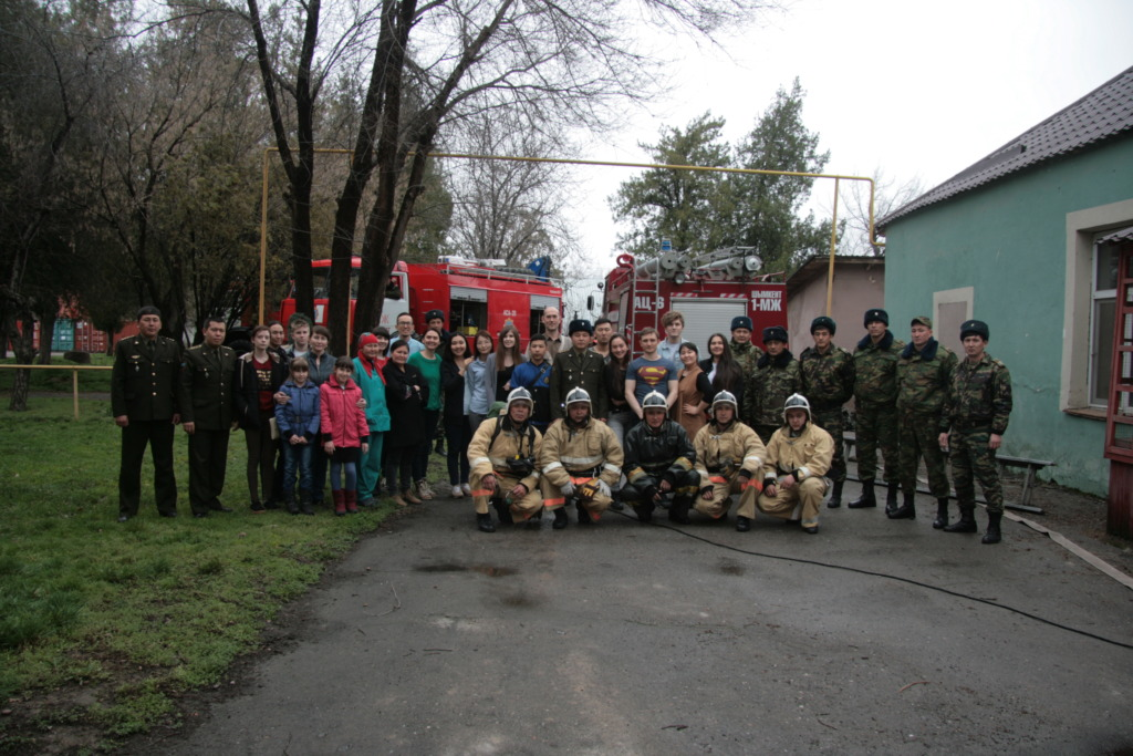 Conclusion of the fire-fighting demonstration