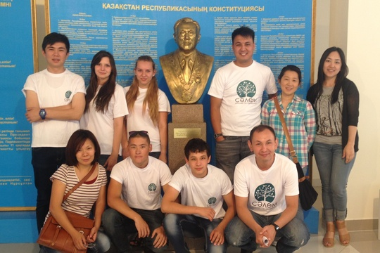 Our team (and the President) at Nazarbayev School