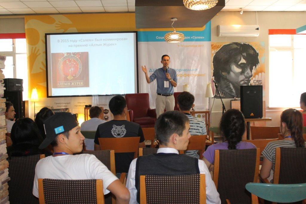 Our director explaining social entrepreneurship
