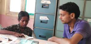 A Student during the admission process