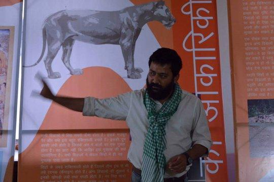 Shankar Chandra - curator of the lion exhibition