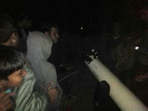 Fun time with our new telescope