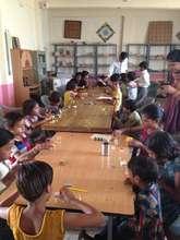 Craft workshop at Adharshila School