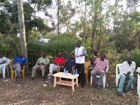 Leonard Otieno Otiende with Uradi leadership