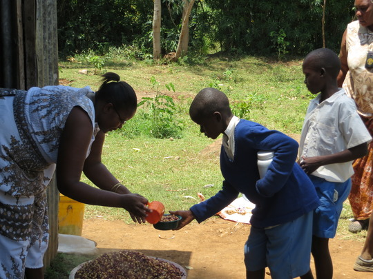 Lunch time at Mawembe Kodero Primary School