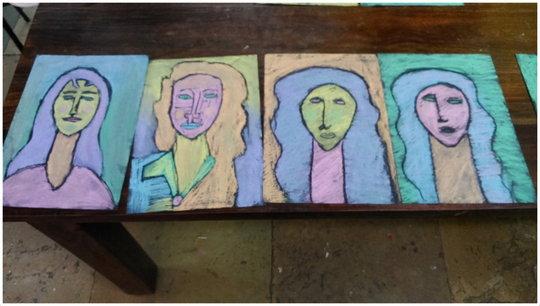 Art work inspired by artist Amedeo Modigliani
