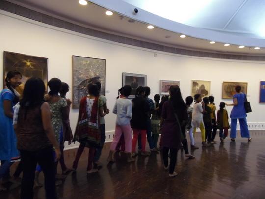 Entering the art world at Jehangir Art Gallery