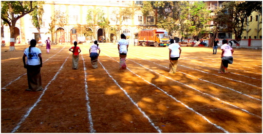 Sack race at AAWC Sports Day!