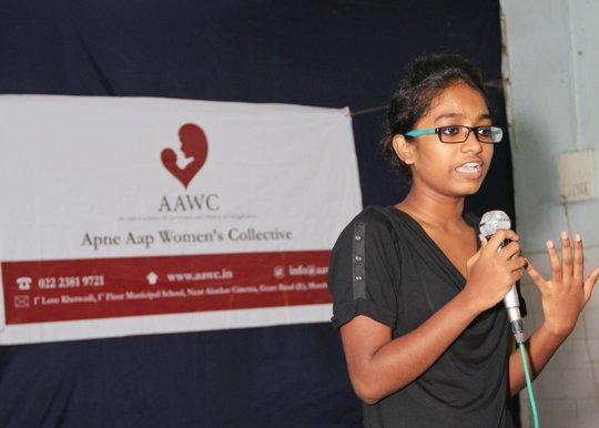 Shweta Katti speaks at AAWC's 15th anniversary