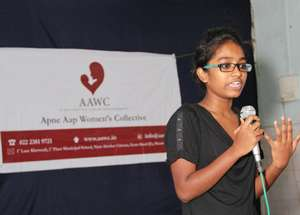 Shweta Katti speaks at AAWC's 15th anniversary