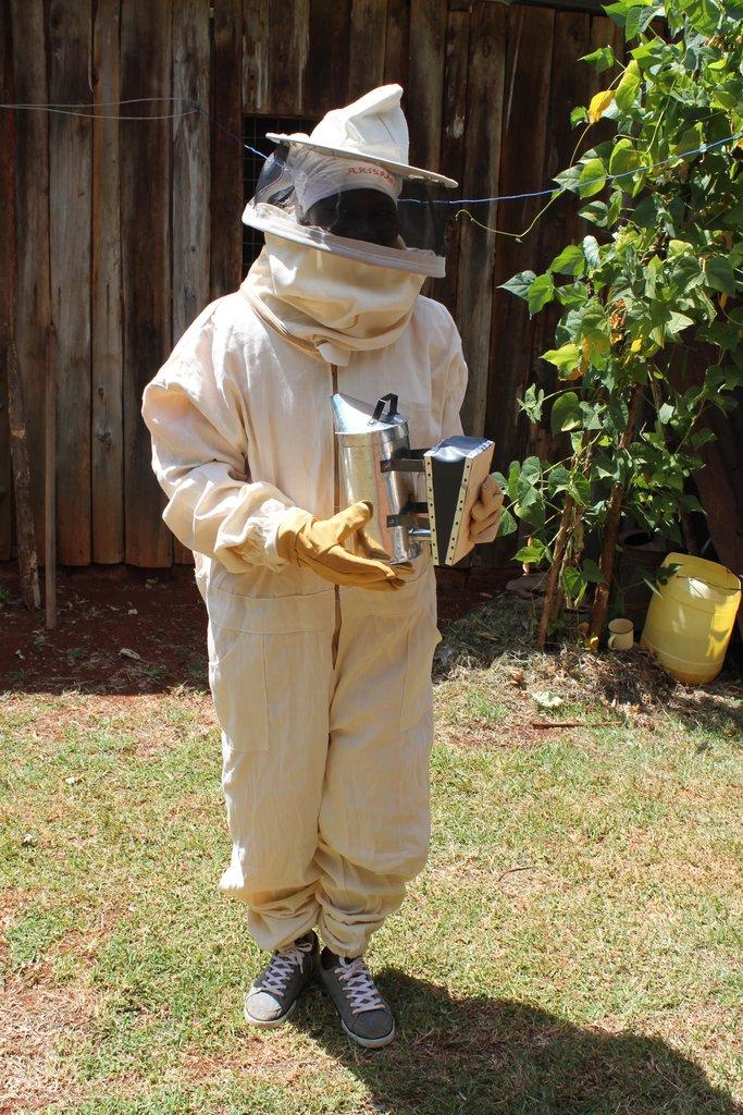 Lead beekeeper, Miriam
